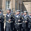 Members of British armed forces marching through liverpool — Stock Photo #25943041