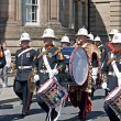 Band of Her Majesty's Royal Marines marching through Liverpo — Stock Photo #25945375