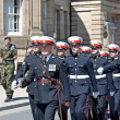 Members of British armed forces marching through liverpool — Stock Photo #25947983