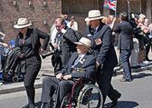 World War 2 veterans marching in Liverpool, UK — Stock Photo