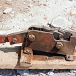 Stock Photo: Reinforced steel rod cutter