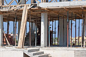 Form work on building under construction — Stock Photo