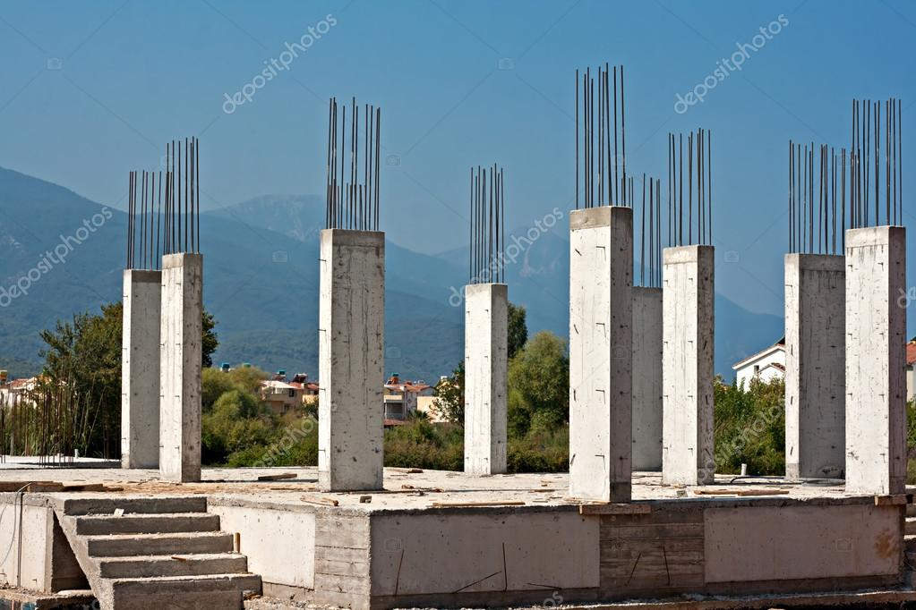 Pilares De Concreto Armado Na Constru O De Site