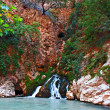 Waterfall at Saklikent Gorge in Turkey — Stock Photo
