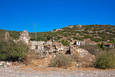 Old abandoned Greek,Turkish village of Doganbey, Turkey — Stock Photo