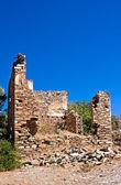 Vieja aldea abandonada de griega, turca de doganbey, turquía — Foto de Stock