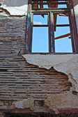 Old lath and plaster on derelict building — Stock Photo