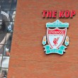 Liverpool, UK, April 21st 2012. Liverpool football club crest, w — Stock Photo #38345907