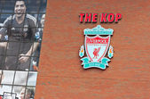 Liverpool, UK, April 21st 2012. Liverpool football club crest, w — Stock Photo