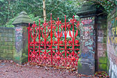 """The Beatles"" heritage trail, Strawberry Field Gates — Stock Photo"