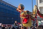 LIVERPOOL, UK, FEBRUARY 2 2014. Street parade to mark Chinese N — Stock Photo