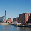 View of Liverpool's historic waterfront — Stock Photo