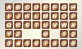 Alfabet toetsenbord — Stockvector