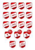 Set adesivo web — Vettoriale Stock