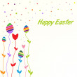 Stock Vector: Easter colored card