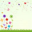 Easter spring illustration — Stock Vector