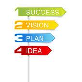 Señales de pasos para el exito — Vector de stock