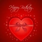 Birthday heart gift — Stock Vector
