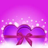 Pink hearts gift — Stock Vector