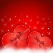 红色的心的礼物 — 图库矢量图片