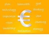 Euro kar stratejisi — Stok Vektör