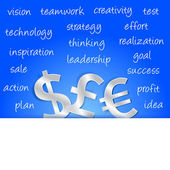 Money profit strategy — Stock Vector