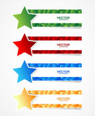 Cubes banner with star — Stock Vector
