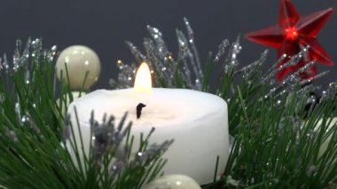 Holidays candle ornament — Stock Video
