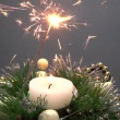 Fireworks and candle decoration — Stock Video #25091625