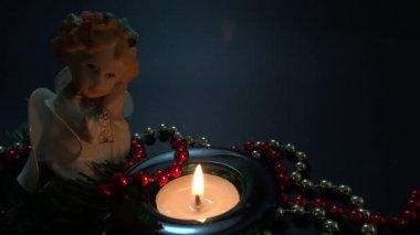 Angel figurine ornament — Stock Video