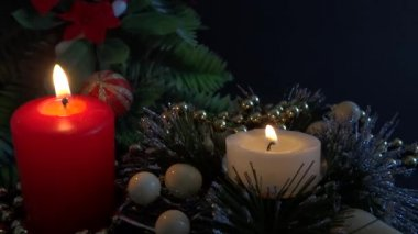 Xmas decoratie deel 3 — Stockvideo