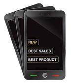 New smartphone presentation — Stock Vector