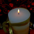 Decorative candle — Stock Video