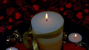 Dekorativní svíčka — Stock video