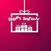 Happy Birthday box gift — Stock Vector