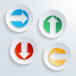 Modern button arrow direction set — Stock Vector #26776613
