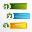 1 2 3 grass option banner set — Stock Vector