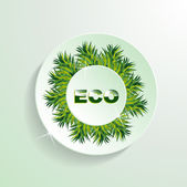ECO grass button presentation — Stock Vector