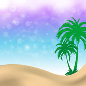 Palm trees summer background — Stock Vector