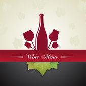 Wine menu cover — Stock Vector