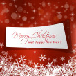 Cute Christmas message in red background — Imagen vectorial