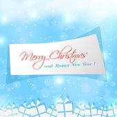 Cute label for Merry Christmas — Stock Vector