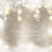Glada golden julkort — Stockvektor