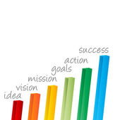 Steps to Success — Stock Vector