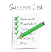 Success check list — Stock Vector
