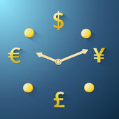 Currency time passing — Stock Vector