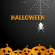 Halloween black  background — Stock Vector