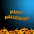 Happy Halloween  blue background — Stock Vector
