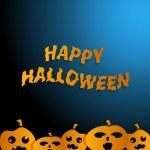 Happy Halloween  blue background — Stock Vector #31225575