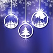 Christmas ornament background — Stock Vector